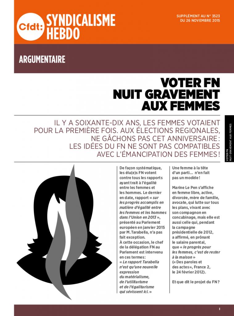 SH3523- Argu Voter FN nuit gravement aux femmes - BD